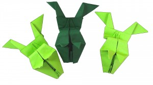 Оригами скачаща жаба