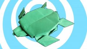 оригами костенурка
