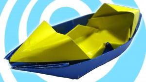 Оригами моторна лодка сампан