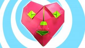 оригами сърцето на клоуна