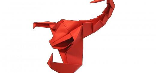 оригами скорпион