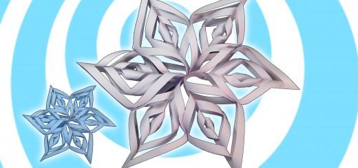 оригами 3д снежинка