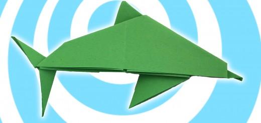оригами делфин