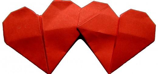 origami dvoino syrce