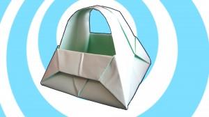 Оригами кошница