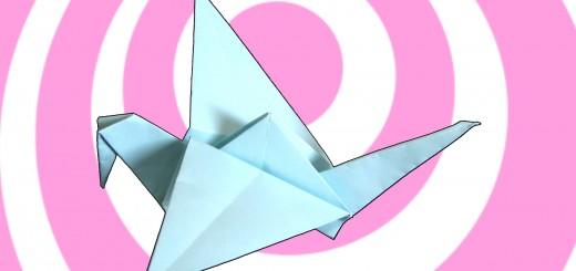 оригами летяща птица