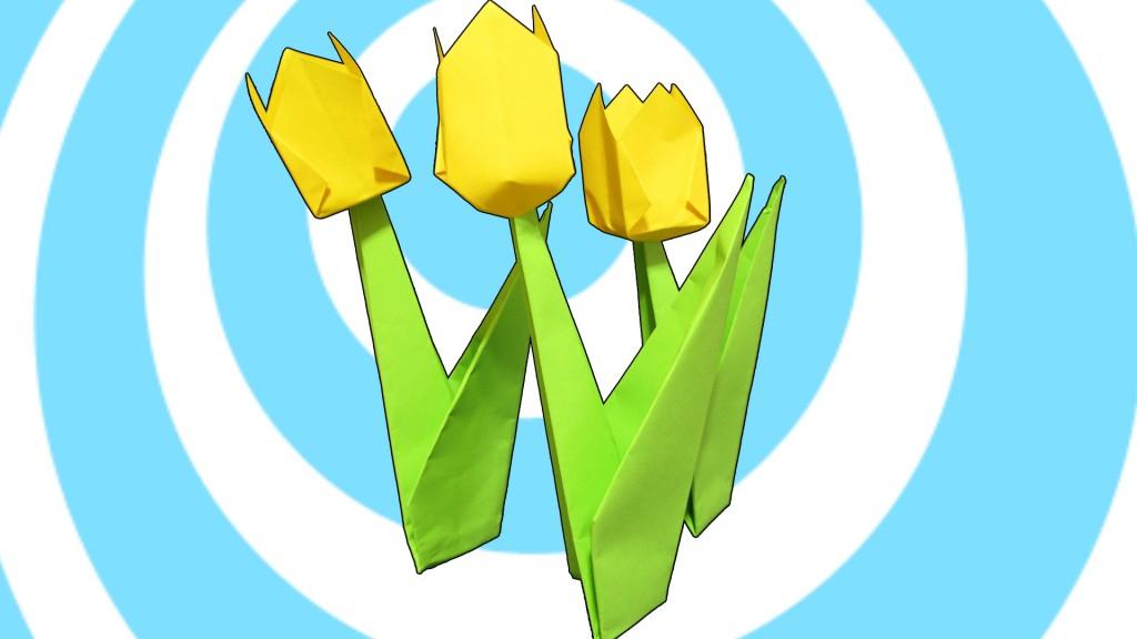 оригами лале