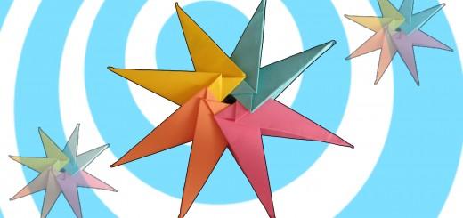 как да си направите модуларно оригами звезда от 8 части.