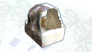 Оригами кошница от 10лева