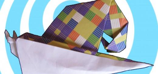 оригами охлюв