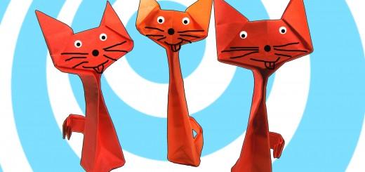 оригами котки