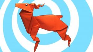 оригами елен