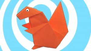 оригами катерица