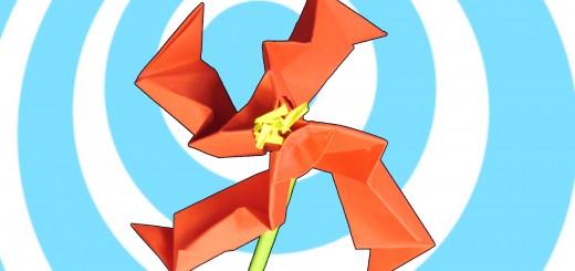 Оригами цвете Тео