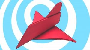 Оригами самолет играчка от хартия