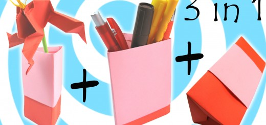 оригами ваза, моливник и кутия