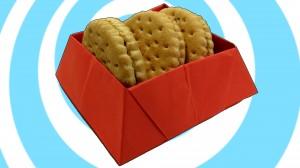 оригами малка кутия за сладки