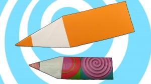 оригами молив
