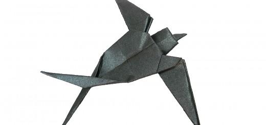 Оригами лястовица