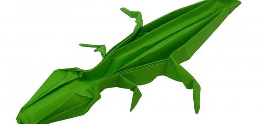 оригами крокодил