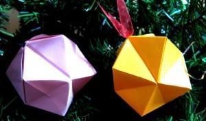 оригами коледна топка