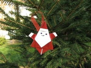 оригами дядо коледа