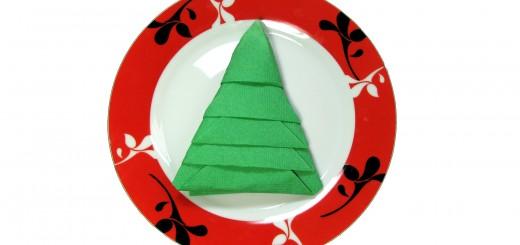 Оригами елха от салфетка