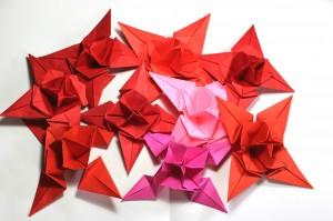 оригами коледна звезда