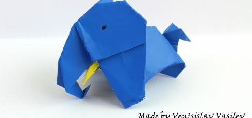 Оригами слонче