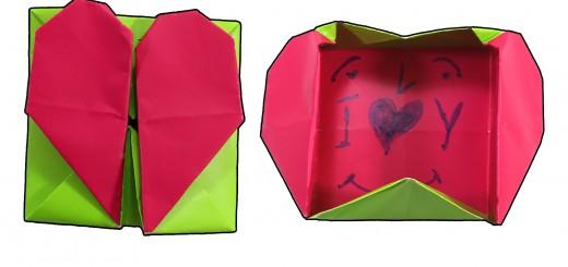 Оригами Сърце кутия