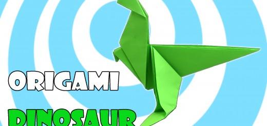 оригами динозавър