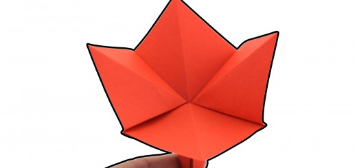 Оригами цвете