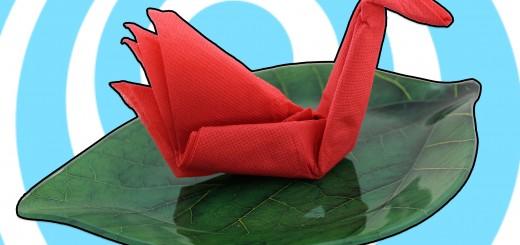 Оригами лебед