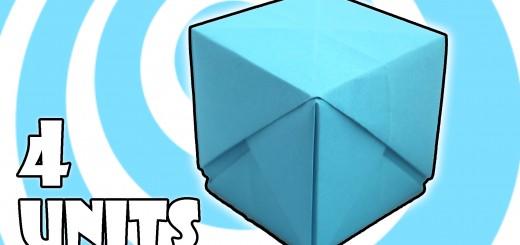 оригами куб кутия